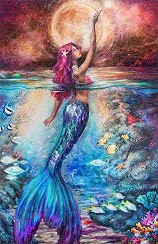 KOTWDQ 5d Diamond Painting Kits for Adults Kids Mermaid Full Drill Diamond dotz for Home Wall Decor 12x16inch(Canvas Size)
