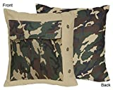 Sweet Jojo Designs Green Camo Decorative Accent Throw Pillow