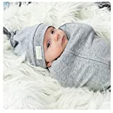 Woombie Original One-Step Baby Swaddle – Easy To Use Natural Approach to Swaddling – Stretchy But Snug Breathable Fabric – Twilight (Heathered Gray) –  Big Baby 14-19 lbs