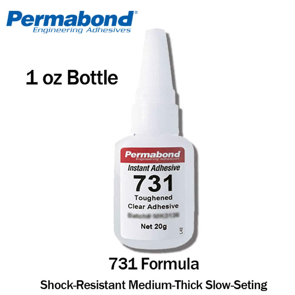 Permabond 731 (1oz Bottle) Instant Adhesive-Toughened & Flexible Slow-Set General Purpose