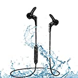 [2019] Avantree Waterproof IPX7 Bluetooth 5.0 Earbuds for Running Sports, Sweatproof Mini Earphones, Wireless Headphones with Mic, 9-13 Hours Playtime for Workout Gym Cycling Hiking etc. - HS134