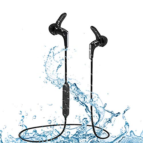 2019 Avantree Waterproof IPX7 Bluetooth 5.0 Earbuds for Running Sports, Sweatproof Mini Earphones, Wireless Headphones with Mic, 9-13 Hours Playtime for Workout Gym Cycling Hiking etc. – HS134