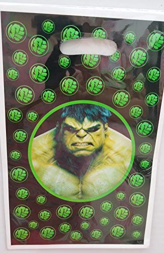 Gallmark The Incredible Hulk Party Bags Loots Treats Favors Birthday Supplies Green Decoration Infinity War Movie - 10 PC]()