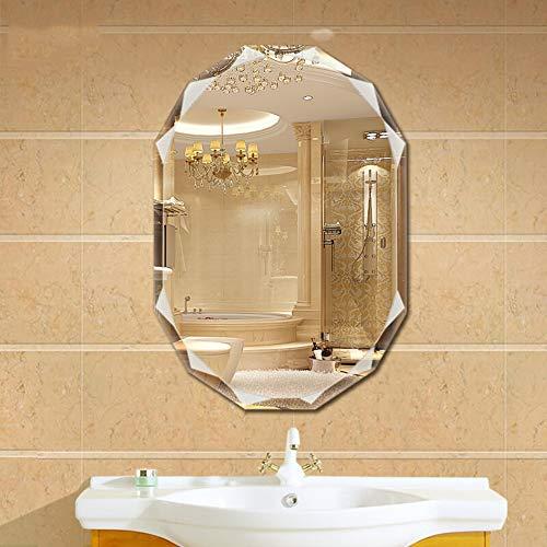 BATH Oval Frameless Bathroom Mirror, Beveled Mirror, Vanity Mirror Makeup Mirrors, for -