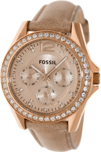 montre fossil femme bracelet cuir beige. Black Bedroom Furniture Sets. Home Design Ideas