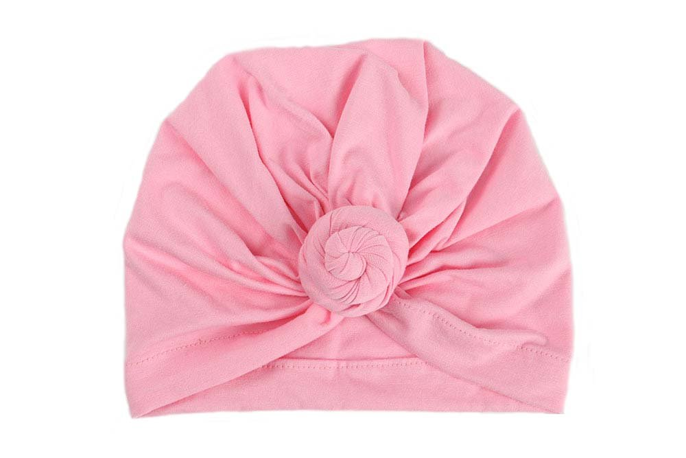 Udobuy 7 Pcs Headband Updated Version Baby Hat- Newborn Baby Girl Soft Cute Turban Knot Rabbit Hospital Hat (7 Pcs Set Knotted Hat) Multicolored by Udobuy (Image #4)