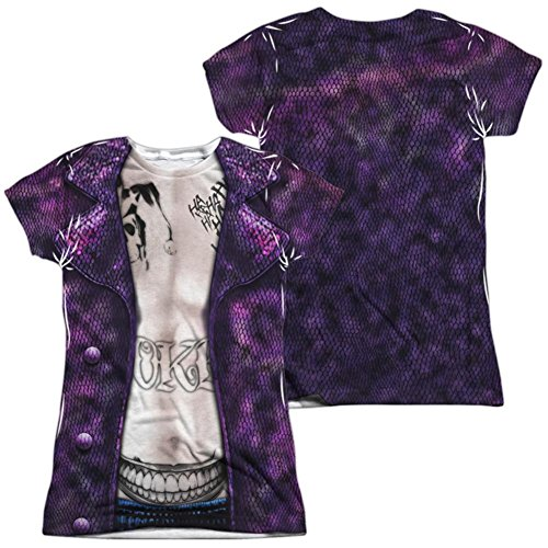 Crazy Costume Joker (Juniors: Suicide Squad- Joker Costume Tee (Front/Back) Juniors (Slim) T-Shirt Size)