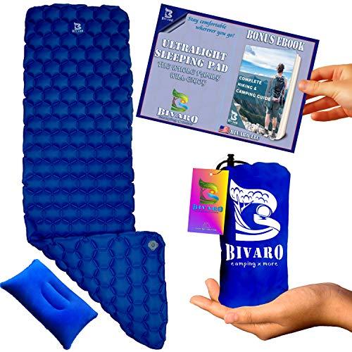 Bivaro Ultralight Sleeping Pad Blue for Backpacking...