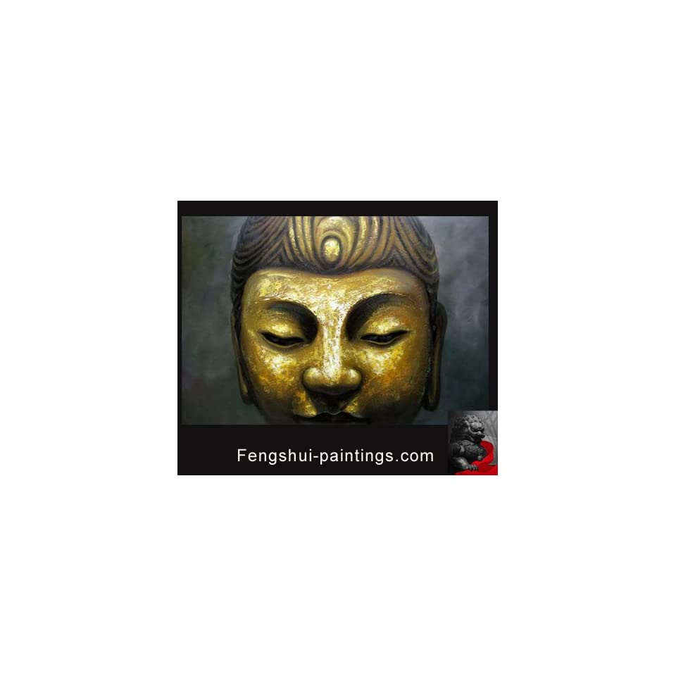 Buddha Painting Modern Contemporary Abstract Oil Painting on Canvas Art Hand Painted Framed c0762