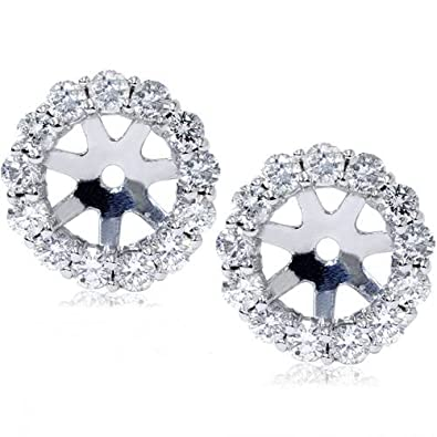 721482af600c6 14K White Gold 1/2ct. Diamond Earring Jackets