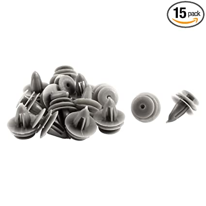 uxcell 16pcs Retainer Fasteners Clips Plastic Rivet 9mm