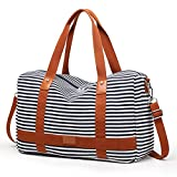 Cheap Canvas Overnight Bags for Women Weekender Travel Bag Ladies Duffel Tote Luggage