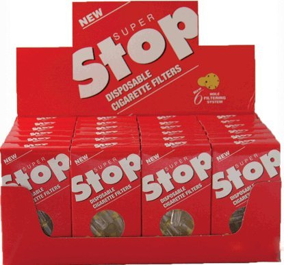 Super Stop Disposable Cigarette Filters - 20 - 30 Count Packs ( 600 Total ) by Super Stop