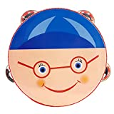 Mugig Musical Tambourine Kids Educational Toy Musical Instruments Cute Hand Drum Round Percussion Gift for Boys and Girls (Boy)