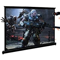 """HD Projector Screen, 3D Projector Screen, 40"""" 16:9 Floor-Standing Quick Pull Out Screen,with Excellent Waterproof and…"""