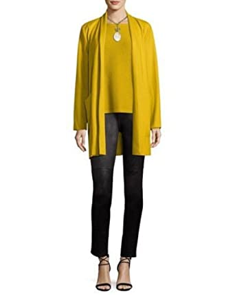 fb9e02d692f Image Unavailable. Image not available for. Color  Eileen Fisher Plus  Mustard Boiled Wool Jersey Shawl Collar Jacket Size ...