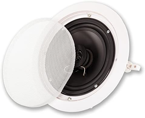 Acoustic Audio by Goldwood Acoustic Audio HT-67 in Wall in Ceiling 1750 Watt 6.5″ Home Theater 7 Speaker System, White 51GILbTebqL