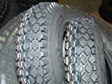 Two (2) Tires, Size: 4.10/3.50-6, 4ply, Stud Tread