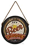 American Chateau Retro 15.5' Beer Keg Lid It's Beer O'clock Bar Decor Wall Sign Plaque