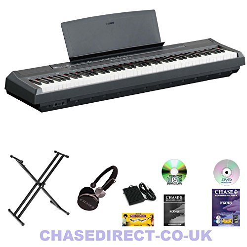 Yamaha digital piano p 115 bk black bundle with keyboard for Yamaha digital piano p 115