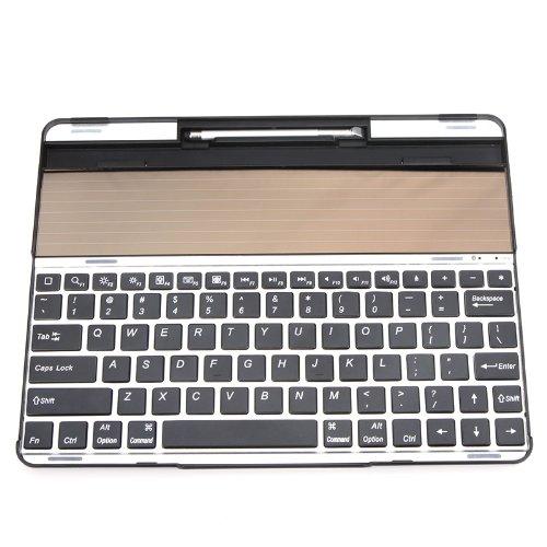 Kingzer Portable New iPad 4 3 2 Aluminium Alloy Solar Wireless Bluetooth Keyboard by KINGZER