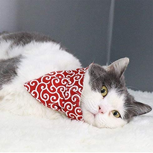 Myhou Swedish Folk Art Dala Horse Pet Scarf Dog Cat Bandana Collars Triangle Neckerchief