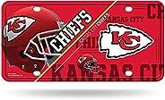 RICO Industries NFL Kansas City Chiefs Unisex Kansas City Chiefs License Plate Metalkansas City Chiefs License