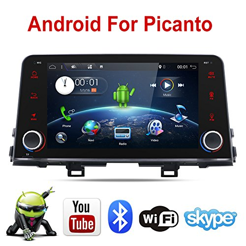 [NEW]In-Dash GPS Navigation Stereo FM AM Radio Bluetooth USB SD Android 7.1 OS 8