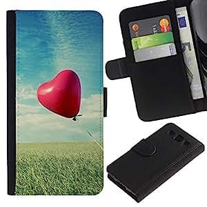 Ihec-Tech / Flip PU Cuero Cover Case para Samsung Galaxy S3 III I9300 - Love Balloon Love