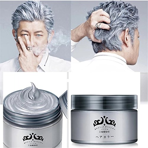 GARYOB Silver Gray Hair Wax Natural Ash Matte Long-lasting Professional Strong Hair Lacquers Gel Cream 4.23oz for Men and - Gray Matte Color