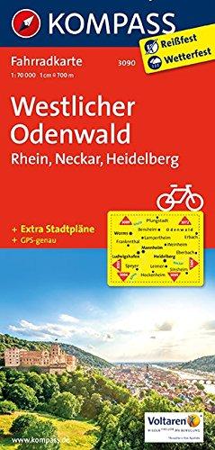 Westlicher Odenwald - Rhein - Neckar - Heidelberg 1 : 70 000  (KOMPASS-Fahrradkarten Deutschland, Band 3090)