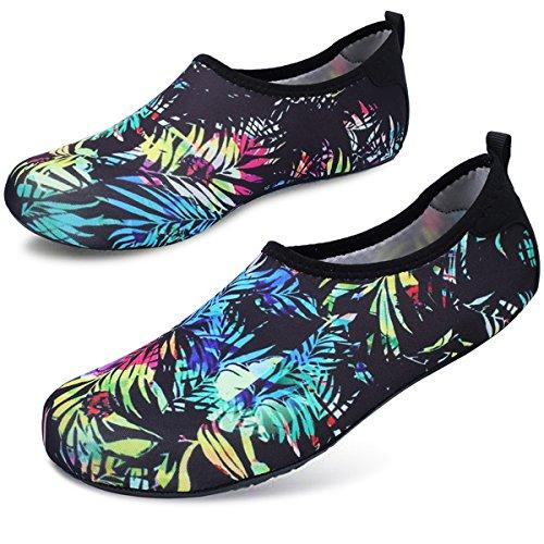 Surf Swim Shoes Leaf Yoga Barerun Sport Mens for Aqua Color Water Socks Womens Outdoor Beach qqwz6pvI