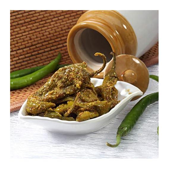 Utsav Chagan Magan Pickle Combo-Marwari Athana Mirichi ??????? ????? ?????? ?? ???? Athana Mirchi Green Chilli Pickle