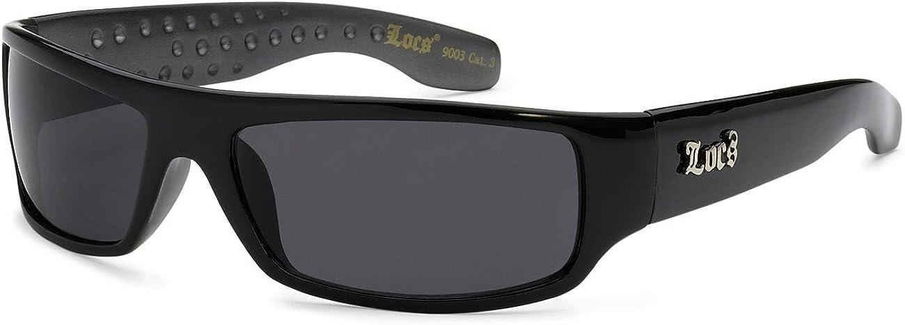 Designer Sunglasses LOCS Shades Sports Wrap Around White 9003 Men Women UV400