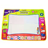 Amytalk Doodle Drawing Mat Pen 4 Color Children Water Drawing Aqua Mat Board & Magic Pen Doodle Kids Educational Toy Gift 31.5'' x 23.62''