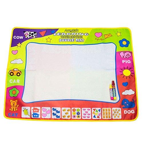 Amytalk Doodle Drawing Mat Pen 4 Color Children Water Drawing Aqua Mat Board & Magic Pen Doodle Kids Educational Toy Gift 31.5'' x 23.62'' by Amytalk