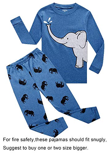 Family Feeling Elephant Baby Boys Long Sleeve Pajamas Sets 1