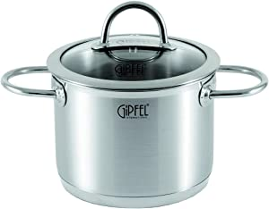 Stainless Steel Stock Pot for Cooking – 6.3 Quart Pot – Soup Pot with Lids – Induction Pot with 2 Handles – Stockpot for Cooking
