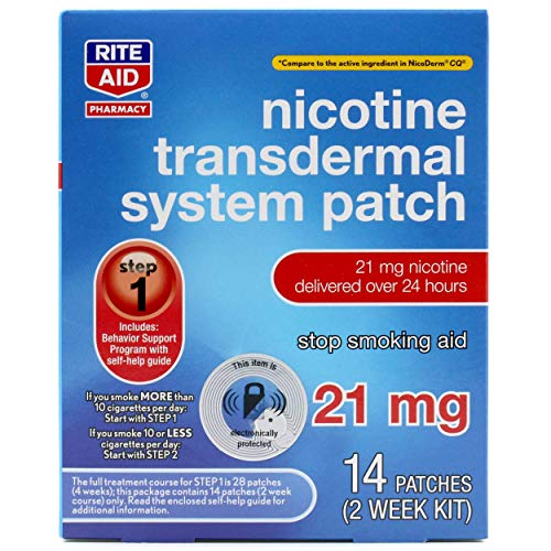 Rite Aid Nicotine Patches - Step 1 | 21 mg - 14