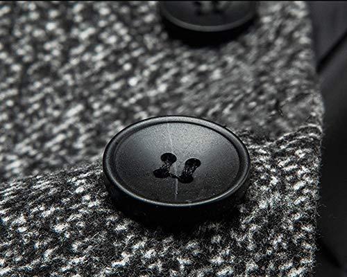 Down Coat Parka Jacket Coat Pea Warm Turn Light Coats Grey Trench Outwear Mens Collar Windbreaker 81FxngEw