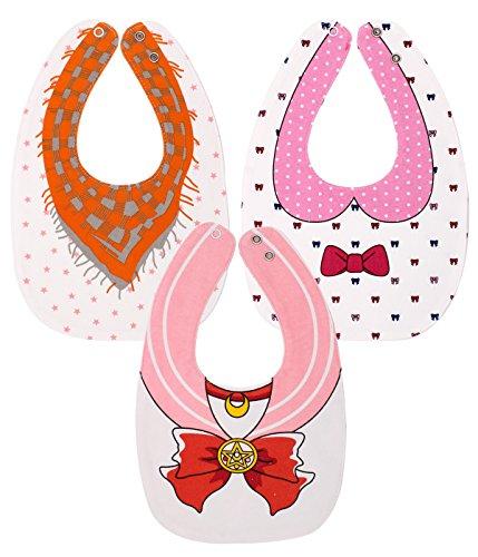 EGOFLEX 3-Pack Baby Bibs for Girls - Reversible Burp, Teething, Feeding, Drooling -