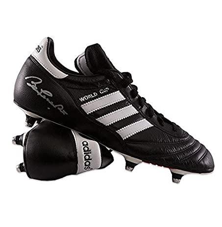 Sir Bobby Charlton Signed Football Boot - Adidas World Cup Autograph Cleat  - Autographed Soccer Cleats