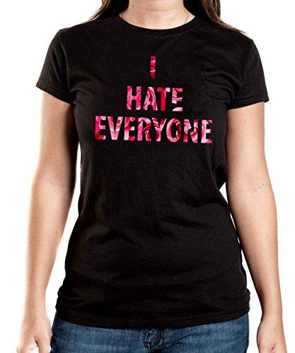 I Hate Everyone Roses T-Shirt Girls Black Certified Freak