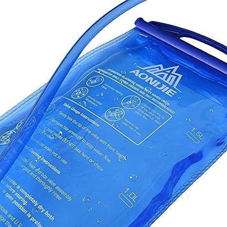 lzndeal Bolsa de Agua Botella al Abierto 1L y 1.5L//2L//3L Hydratation Camelbak Mochila T/áctico Bolsa de Agua para el Recorrido de Camping en Bicicleta