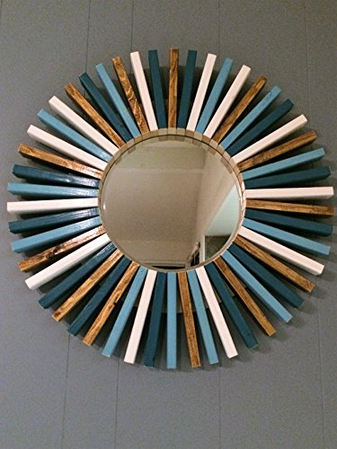 Round Wall Mirror Four Colors Wood Frame 30