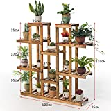 Balcony wooden living room flowerpot rack hundred step style flower racks-A