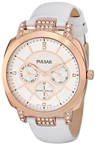Pulsar Women's PP6134 Night Out Analog Display Japanese Quartz White Watch