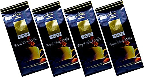 Suzuki MAQEE Premium Espresso Gourmet Arabica Coffee Ground - French Roasted Pack of 4- 7oz (MAQEE Royal Blend Espresso Ground, 28oz)