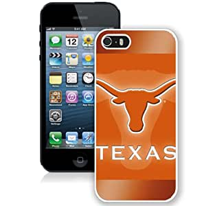 Beautiful And Popular Designed With NCAA Big 12 Conference Big12 Football Texas Longhorns 17 Protective Cell Phone Hardshell Cover Case For iPhone 5S Phone Case White