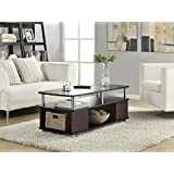 Altra Carson Coffee Table, Cherry/Black